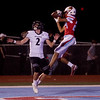 Webb City's Mekhi Garrard makes a touchdown catch over Willard's Garrett Martin during Friday's game at Webb City.<br /> Globe | Roger Nomer