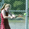Globe/Roger Nomer<br /> Joplin's McKenzie Erisman, junior, returns a ball against Carl Junction on Wednesday.