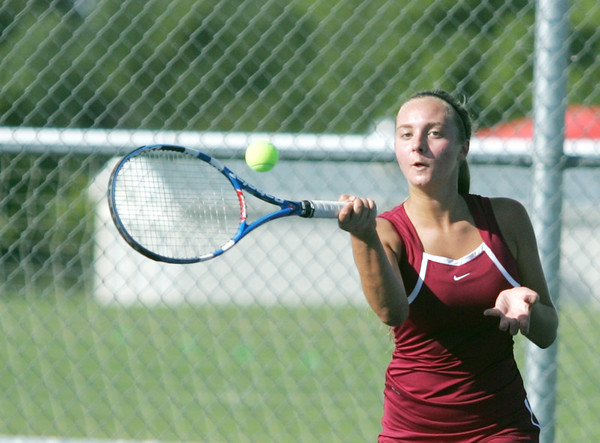 Globe/Roger Nomer<br /> Joplin's Sydney Butler, sophomore, hits a ball against Carl Junction on Wednesday.