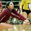 Joplin's Jessica Zengel returns a serve during the Eagles' match against Webb City on Tuesday night at JHS.<br /> Globe | Laurie Sisk