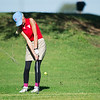 Globe/Roger Nomer<br /> Webb City's Emma Oathout chips onto the green on Monday at Schifferdecker Golf Course.