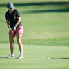 Globe/Roger Nomer<br /> Carl Junction's Avery Boursassa putts at Schifferdecker Golf Course on Monday.