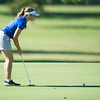 Globe/Roger Nomer<br /> Carthage's Kimberly Sager lines up a putt at Schifferdecker Golf Course on Monday.