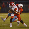 Globe/Roger Nomer<br /> Webb City's Jordon Rogers tackles Ozark's Jack Hulse during Friday's game in Webb City.