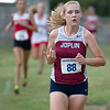 Joplin's xx runs near the front of the pack on Thursday at the Carthage Invitational in Carthage.<br /> Globe | Laurie Sisk