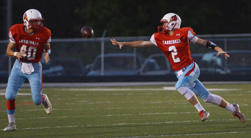 Globe/Roger Nomer Webb City's Cash Link pitches the ball to Cameron Baker during Friday's game in Webb City.