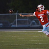 Globe/Roger Nomer<br /> Webb City's Cash Link pitches the ball to Cameron Baker during Friday's game in Webb City.