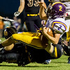 Globe|Israel Perez<br /> Sarcoxie's Devon Middleton (2) gets tackle by Diamond's Christian Maturino (9) during their game on Friday night at Diamond High School.