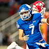 Miami's Gavin Payton (7) scores a touchdown on the first quarter putting the Wardogs on the board during their game against Grove OK on Friday evenining at the Red Robertson Field in Miami OK.<br /> Globe | Israel Perez