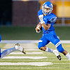 Miami's Damion Burris (13) runs the ball for a gain of yards against Grove OK during their game on Friday evening at the Red Robertson Field in Miami OK.<br /> Globe   Israel Perez