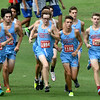 Webb City's Boys Cross Country team runs as a pack at the start of the Carthage Cross Country Invitational on Thursday at the Carthage Golf Course.<br /> Globe   Laurie Sisk