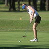 Carthage's Sara Golden putts during Monday's Central Ozark Conference at Carthage Municipal Golf Course.<br /> Globe | Roger Nomer