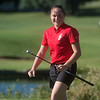Carl Junction's Maddie Coats smiles after hitting a tee shot during Monday's Central Ozark Conference at Carthage Municipal Golf Course.<br /> Globe | Roger Nomer