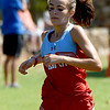 Webb City's xx crosses the finish line during the Carthage Invitational Cross Country meet on Thursday at the Carthage Municipal Golf Course.<br /> Globe | Laurie Sisk