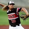 Outlaws starter Jared Wells delivers a pitch to the plate during Joplin's non-league game against the Springfield Redbirds on Wednesday night at Joe Becker Stadium.<br /> Globe | Laurie Sisk