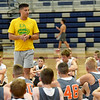 Missouri Southern caoch and former University of Kansas great Jeff Boschee talks about the keys to success during the Four States Elite Basketball Camp on Tuesday at Joplin High School. The invitation only camp features some of the top 53 players in the area who are entering eight and ninth grades.<br /> Globe | Laurie Sisk