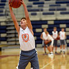 Soon-to-be eighthgrader Ky Warren, of Carl Junction, works on his rebounding during the Four States Elite Basketball Camp on Tuesday at Joplin High School. The invitation only camp features some of the top 53 players in the area who are entering eight and ninth grades.<br /> Globe | Laurie Sisk