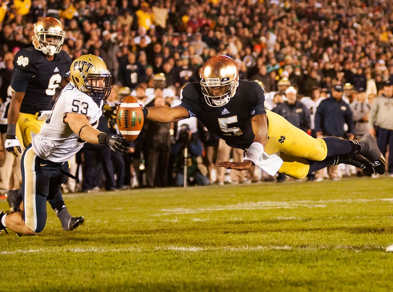 NCAA Football 2012: Pittsburgh vs Notre Dame NOV 03