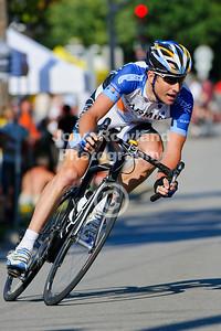 Christian Vande Velde of Team Garmin-Chipotle.  2008 US Pro National Criterium Championships (Pro race).  Downers Grove, IL