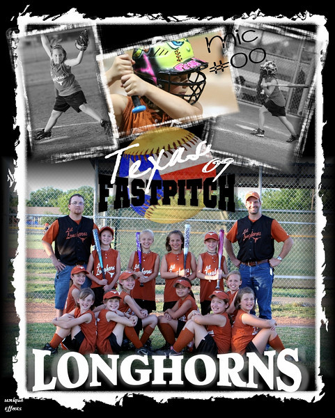 THIS IS THE SPORTS ACTION COLLAGE. IT CONTAINS 3 ACTION SHOTS OF THE PLAYER ALONG WITH A TEAM PHOTO, TEAM NAME, YEAR, PLAYER'S NAME AND NUMBER.
