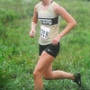Globe/T. Rob Brown<br /> Neosho's Amber Bates competes in the girls' varsity division race of the Southern Stampede XC Invitational Saturday morning, Sept. 15, 2012, on MSSU's cross country course.