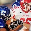 Globe/Roger Nomer<br /> Carthage's Derrick Moore tries to rip the ball from Carl Junction's Kris Bird during Thursday's game in Carthage.
