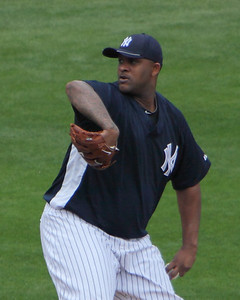 CC Sabathia getting a work out in srping training against Pittsburgh