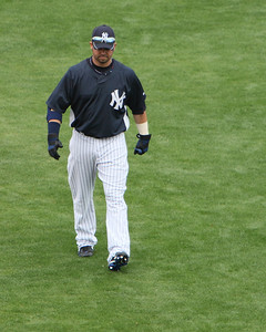 Nick Swisher warming up before game