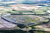 An aerial photo of Rockingham race circuit.