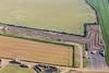 Aerial photo of Fulbeck kart racing track.