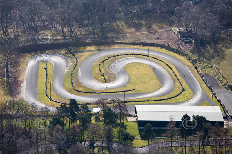Amen Corner Kart track from the air.