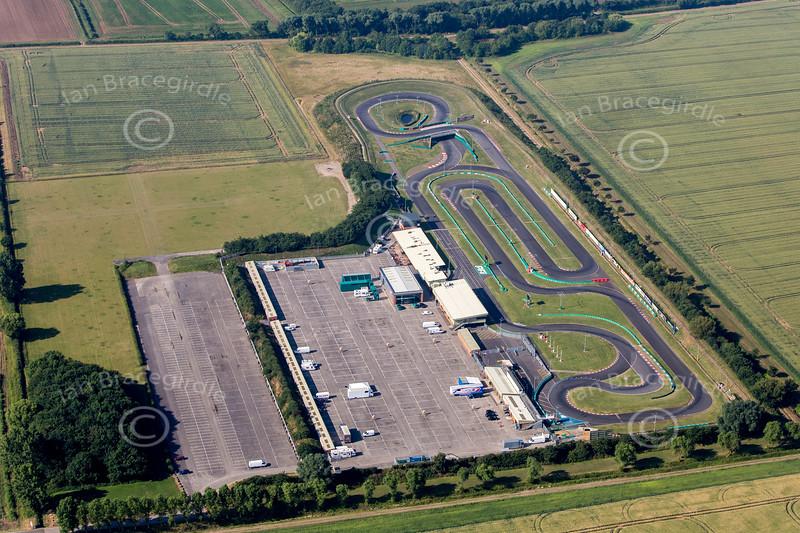PFI kart racing track near Grantham, Lincolnshire.