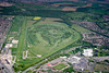 An aerial photo of Doncaster Race Course.