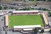 An aerial photo of Kidderminster Harriers Football Ground.