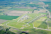 An aerial photo of Snetterton race circuit.