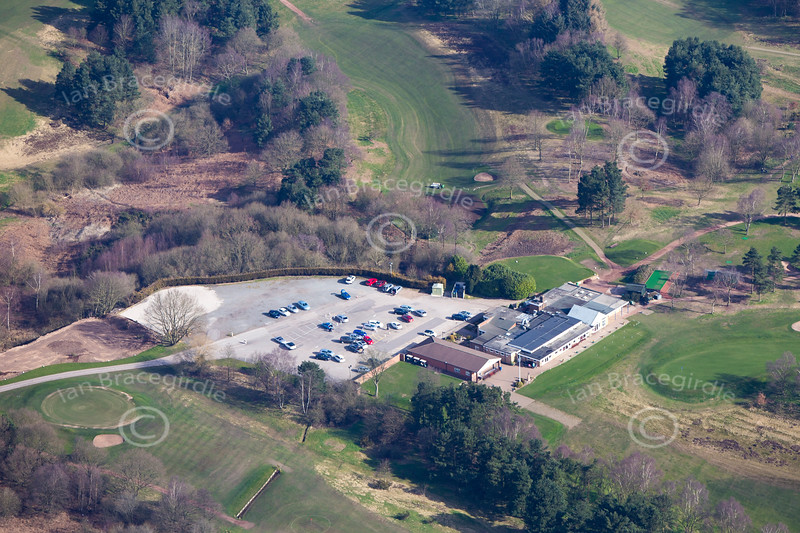 Coxmoor Golf Course from the air.