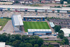 An aerial photo of Mansfield Town Football Ground.