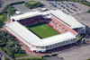 Stoke City Football Club from the air.