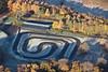 An aerial photo of Amen Corner race circuit.