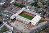 Aerial photo of Sheffield United Football Ground.