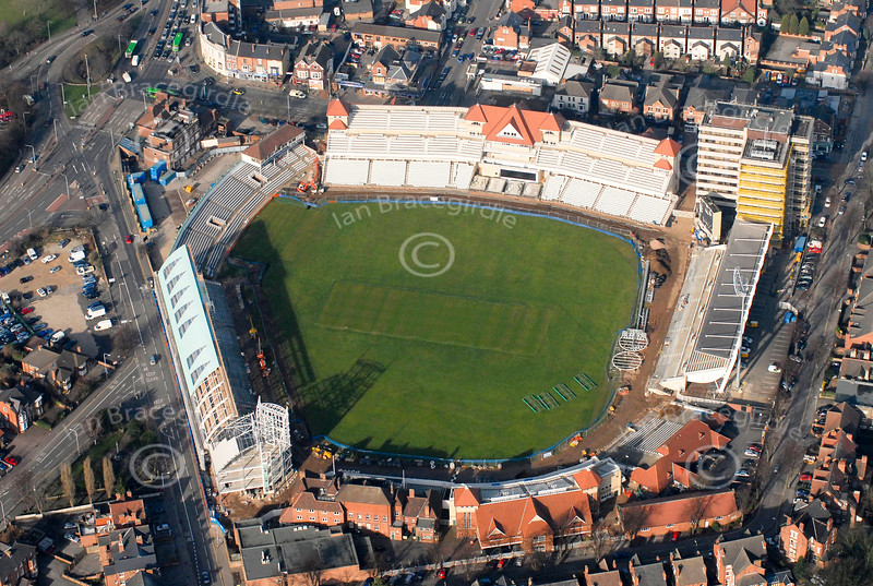 Trent Bridge Cricket Ground from the air.