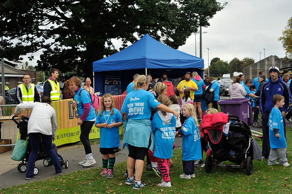 Drink Station and T-Shirts<br /> <br /> dlr Community 5K, took place on Saturday 12th October 2013 at 2pm in Kilbogget Park, Ballybrack.<br /> Now in its 5th year, this family fun event brings together the whole community: people of all ages and abilities. Once again kicking off Social Inclusion Week, all fitness levels were welcome where you can walk, jog, run, wheel or push a buggy.<br /> The 5-kilometre route took participants around the picturesque Kilbogget Park and was suitable for all levels of ability and fitness.  This annual event is organised by DLR Sports Partnership and its partners Dún Laoghaire-Rathdown County Council, dlr Leisure Services, the HSE, Cabinteely Athletic and Football Clubs and Sallynoggin College.<br /> For further information contact Dún Laoghaire-Rathdown Sports Partnership Tel. 01-2719502