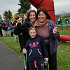 Aideen, Catriona and Lauren Kelly are happy at the finish line.<br /> dlr Community 5K, took place on Saturday 12th October 2013 at 2pm in Kilbogget Park, Ballybrack.<br /> Now in its 5th year, this family fun event brings together the whole community: people of all ages and abilities. Once again kicking off Social Inclusion Week, all fitness levels were welcome where you can walk, jog, run, wheel or push a buggy.<br /> The 5-kilometre route took participants around the picturesque Kilbogget Park and was suitable for all levels of ability and fitness.  This annual event is organised by DLR Sports Partnership and its partners Dún Laoghaire-Rathdown County Council, dlr Leisure Services, the HSE, Cabinteely Athletic and Football Clubs and Sallynoggin College.<br /> For further information contact Dún Laoghaire-Rathdown Sports Partnership Tel. 01-2719502