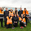 Image features members of the Civil Defence L to R: Alan Hall, James Turner, Declan Duffy, Killian Cosgrave, Aaron Buggy, Luke Carney, Declan Flynn, Marie Kennedy & Anne-Marie Kennedy.<br /> dlr Community 5K, took place on Saturday 12th October 2013 at 2pm in Kilbogget Park, Ballybrack.<br /> Now in its 5th year, this family fun event brings together the whole community: people of all ages and abilities. Once again kicking off Social Inclusion Week, all fitness levels were welcome where you can walk, jog, run, wheel or push a buggy.<br /> The 5-kilometre route took participants around the picturesque Kilbogget Park and was suitable for all levels of ability and fitness.  This annual event is organised by DLR Sports Partnership and its partners Dún Laoghaire-Rathdown County Council, dlr Leisure Services, the HSE, Cabinteely Athletic and Football Clubs and Sallynoggin College.<br /> For further information contact Dún Laoghaire-Rathdown Sports Partnership Tel. 01-2719502