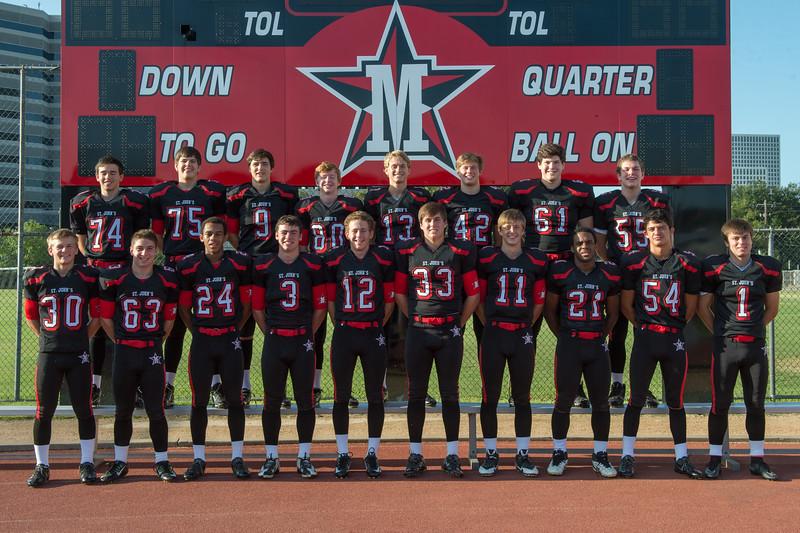 2014 SJS Varsity Football team portraits