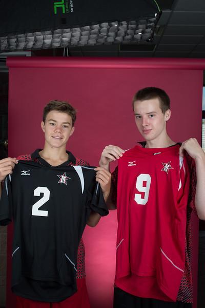 2014 SJS Varsity Boys Volleyball team portraits