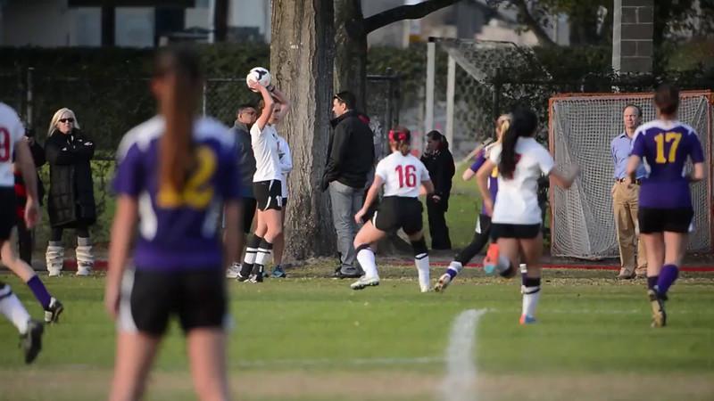 St. John's Lady Mavericks score a goal in their contest hosting Kinkaid's Falcons in SPC varsity soccer. Fri., Feb. 6, 2015. Houston, Tex. (Kevin B Long / GulfCoastShots.com)