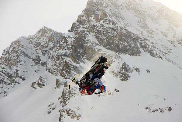 Snowmobile Stunts