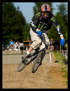 Young boys and girls at the starting line. BMX in Langley B.C.