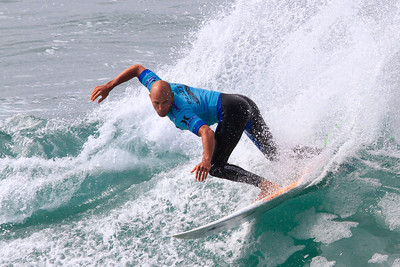 Eleven time world champion Kelly Slater at the 2012 U S Open of Surfing